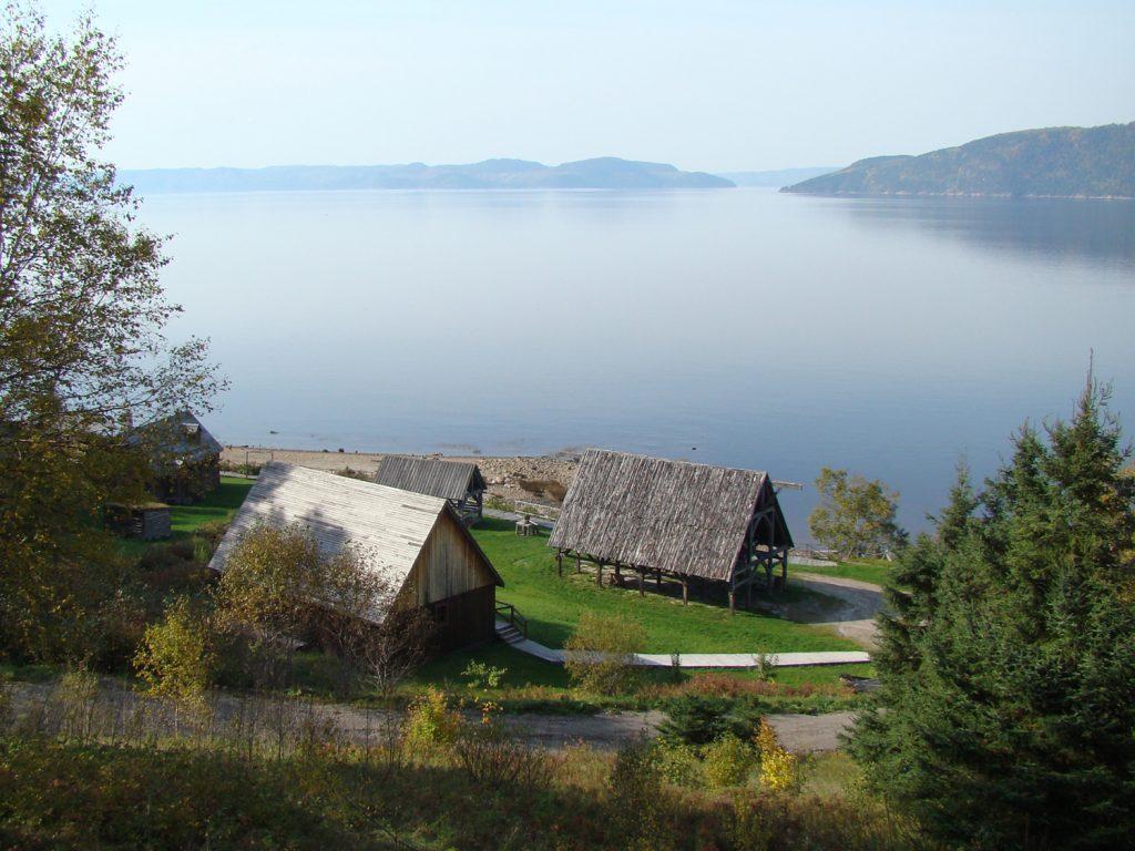Le site de la Nouvelle-France avec vue sur le Saguenay