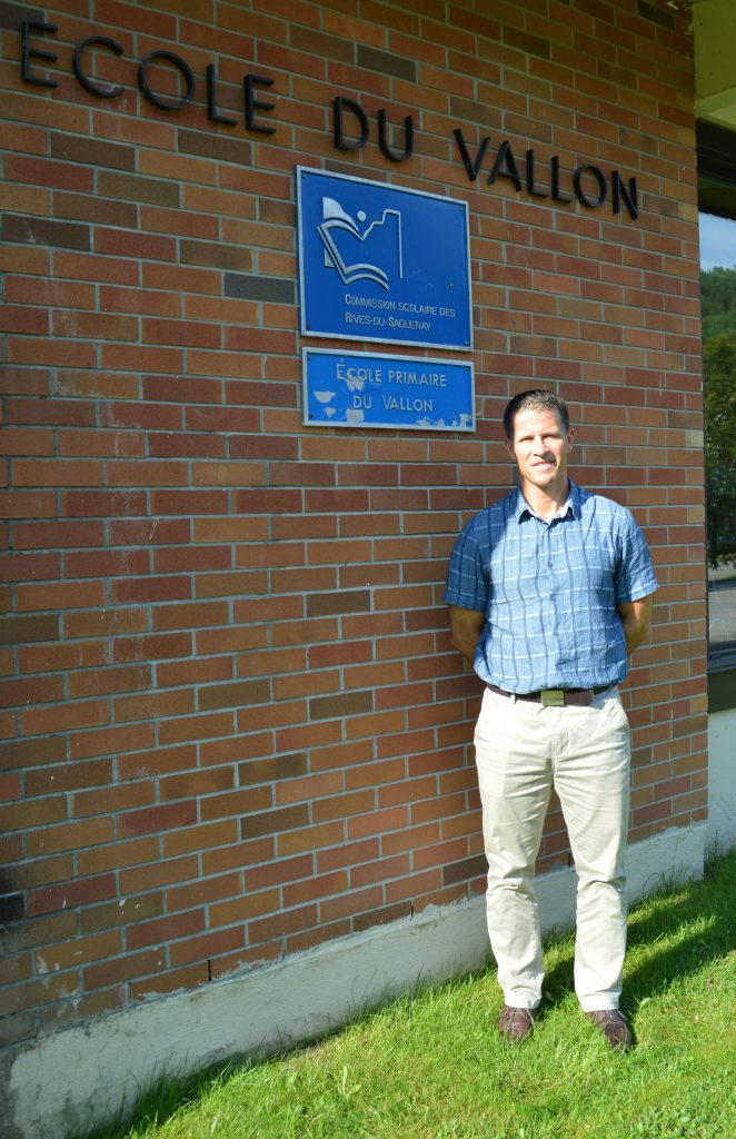 Claude Tremblay, le nouveau directeur des écoles de Saint-Félix, Rivière-Éternité et Petit-Saguenay