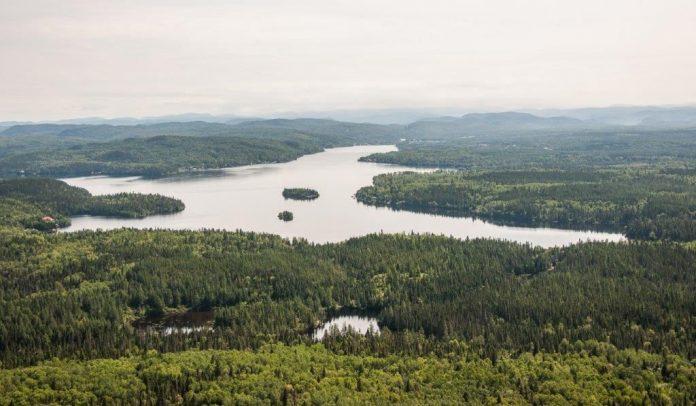Une superbe vue aérienne du lac Otis